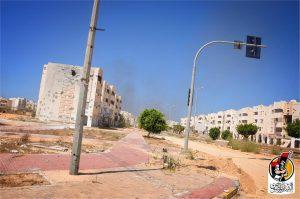 Some of the Sirte apartments cleared today (Photo: BM)