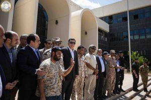 Presidency Council head Serraj poses with BM commanders in Sirte (Photo: GNA)