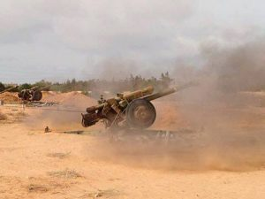 Artillery blast IS Sirte positions today (Photo Bunyan Marsous)