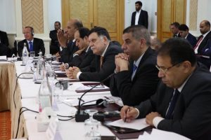 The Presidency Council meeting with the Libya Dialogue in Tunis in September 2016 (Photo: UNSMIL)