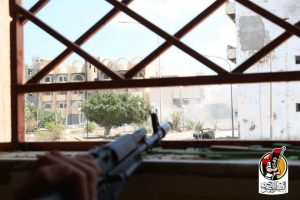 A view from the Sirte frontline today (Photo: BM)