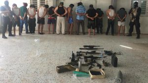 A gang of 12 suspected of kidnap, robbery and extortion were arrested by RADA last week in the Siyahiya area of Tripoli (Photo: RADA).
