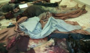 Some of the massacre victims (Photo: Benghazi police)