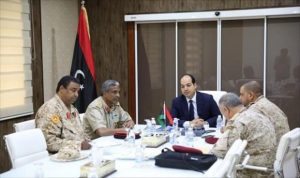 Deputy PC head Ahmed Maetig with Presidential Guard commander today (Photo: PM)