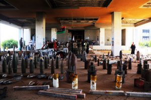 Part of the cleared explosive from Benghazi university (Photo: army)