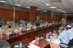 Commanders during their talks in Ghariyan today (Photo:social media)