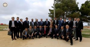Chinese business team in Libya (Photo: Thinni government)