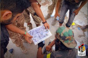BM fighters study a Google Earth image of the Marine Giza area (Photo: BM)