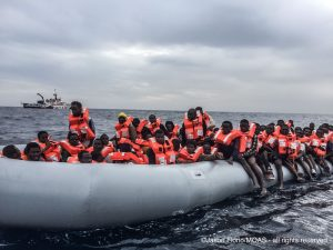 Migrants continue to cross the Mediterranean despite dangerous conditions says the IOM (Photo: MOAS/Italian Red Cross).