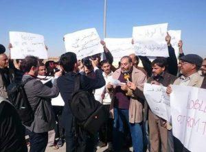 Anti-Kobler protestors at Tobruk airport (Photo: social media)