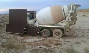 Cement mixed rigged as suicide truck captured today (Photo: social media)