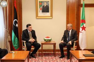 Faiez Serraj arrives in Algiers on an official visit seeking a solution to Libya's political impasse (Photo: PC/GNA).