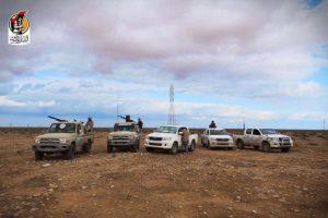 Bunyan Marous technicals near Bani Walid (Photo: BM)