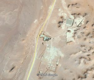 The remote MMR pumping station north of Ash Shwayrif (Image: Google Earth)