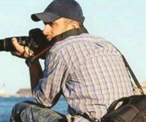 A picture said to be of Palestinian photographer Rami Youssef