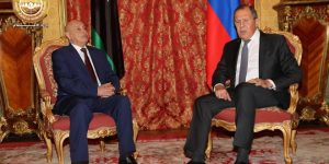 HoR speaker Saleh and Russian FM Lavrov in Moscow (Photo HoR)