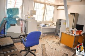 A ransacked room in Sirte's Ibn Sina hospital (Photo: Bunyan Marsous)