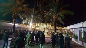 Protesters storm the Al-Madar mobile company HQ in Tripoli demanding a total shut down of service in revenge for long power cuts in the capital (Photo: social media).
