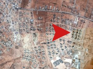 The reported last terrorist positions in Ganfouda (Image source: Google Earth)