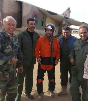 Pilot pilot Younis Al-Dinali who escaped his Mig-23 today (Photo: social media)