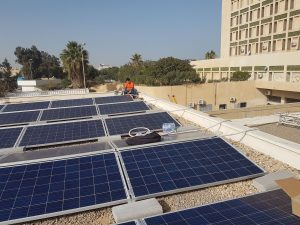 Solar panels installed at Abu Sleem hospital by the UNDP (Photo: UNDP).