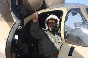 Colonel Mumin Al-Drissi pilot of the downed chopper (Photo: social media)