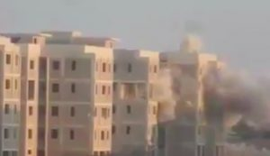 The Ganfouda 12 Buildings under attack (Photo: LNA)