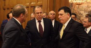 Serraj with Russian foreign minster Sergey Lavrov