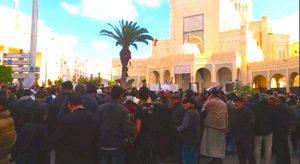 Start of Tripoli protests in Algeria Squre (Photo- social media)