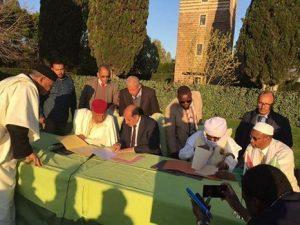 PC member Abdelsalam Kajman at the Rome peace agreement (Photo: Social media)