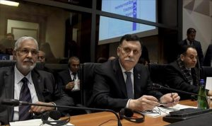 Faiez Serraj and FM Mohamed Taha Siala in Rome last March (Photo:AFP)