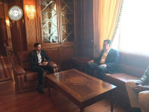 Anti-smuggling chief Milad Al-Hajrasi with Faiez Serraj (Photo: PC)