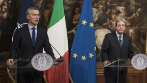 Joint press conference with NATO Secretary General Jens Stoltenberg and the President of the Council of Ministers of Italy, Paolo Gentiloni