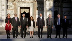 G-7 foreign ministers at Lucca in Italy (Photo from Reuters)