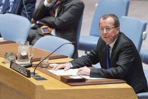 UNSMIL chief Martin Kobler at the UN Security Council (Photo: UN)