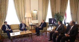 PC's Maetig with Egyptian foreign minister Shoukry (Photo:: Egyptian FM)