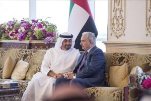 Field Marshal Khalifa hafter and Abd Dhabi Crown Pre,