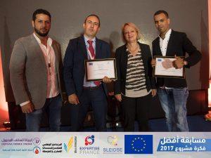 The three winners with EU ambassador to Libya