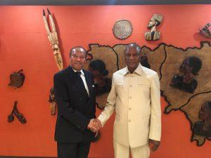 Guinea President Alpha Condé with Prince Idris Al-Senussi ()