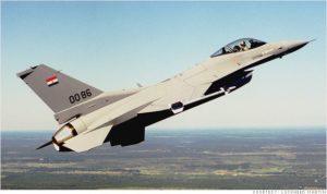 An Egyptian F-16 warplane