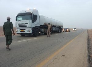 The Libyan NOC/Brega's Fuel Crisis Committee fighting fuel smuggling by land (Photo: Brega).