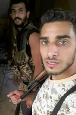 The late Suleiman Al-Houti, the soldier who messaged he would die wth honour (Photo: social media)