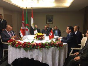 Foreign minister's of Egypt, Algeria, Tunisia
