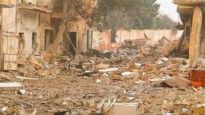 Some of the devastation in Sabri today (Photo: social media)