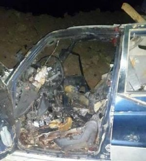 Sidra suicide bomber's car