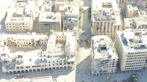 Militants in Suq Al-Hout (circled) before the demolition (Photo: LNA)