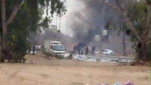Fighting in Garabulli yesterday (Photo: social media)