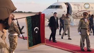 Faiez Serraj after his landing from Ethiopia (Photo: PC)