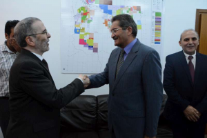 NOC chief Sanalla wth Benghazi mayor Abdelrahman Elabbar today (Photo: NOC)