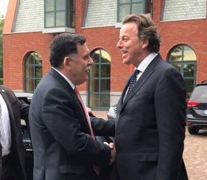 Faiez Serraj adn Dutch frorign minister bert Koenders
